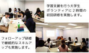 双方向WEB学習支援の学習支援ボランティア育成