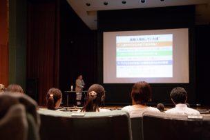 岡山県備前県民局協働事業の玉野市キャラバン講演会