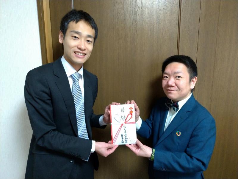 武田薬品労働組合西日本支部様より寄付金贈呈