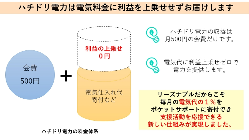 ハチドリ電力の料金体系